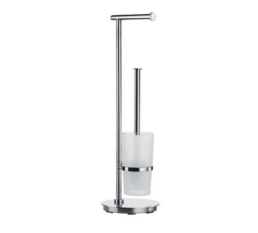 WC-BÜRSTENGARNITUR in Metall - Basics, Glas/Kunststoff (17,5/60/17,5cm)