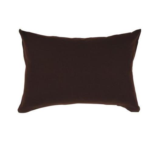 POLSTERBEZUG 40/60 cm - Dunkelbraun, Basics, Textil (40/60cm) - Schlafgut