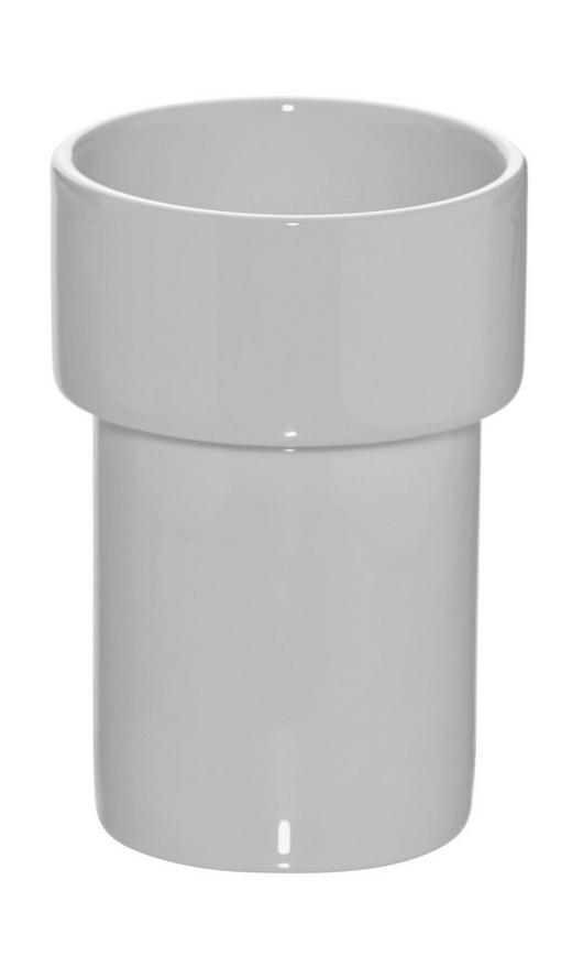 MUNDSPÜLBECHER - Weiß, Basics, Keramik (5,3/10cm)