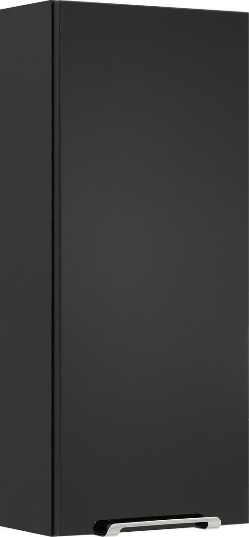OBERSCHRANK Schwarz - Chromfarben/Anthrazit, KONVENTIONELL, Glas/Holzwerkstoff (30/70/16cm) - Carryhome