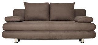 SCHLAFSOFA in Textil Braun  - Chromfarben/Braun, Design, Textil (196/74/90cm) - Carryhome