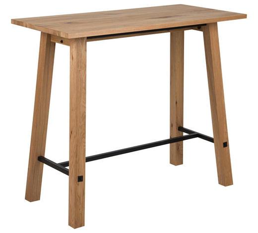 BARTISCH in Holz, Metall 120/60/105 cm - Eichefarben/Schwarz, Design, Holz/Metall (120/60/105cm) - Carryhome
