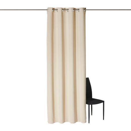 ÖSENSCHAL  black-out (lichtundurchlässig)  140/245 cm - Champagner, Basics, Textil (140/245cm) - Esposa