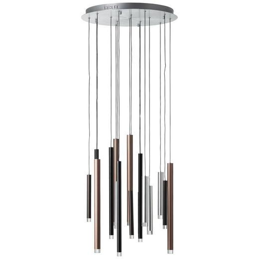 LED SVJETILJKA VISEĆA - tamno smeđa/smeđa, Trend, metal/plastika (55/180cm)