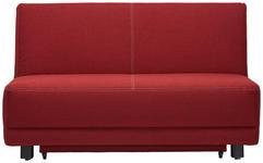 SCHLAFSOFA Rot - Beige/Rot, MODERN, Holz/Textil (145/90/96cm) - Novel