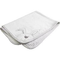 SCHMUSEDECKE - Silberfarben/Weiß, Basics, Textil (75/100cm) - My Baby Lou
