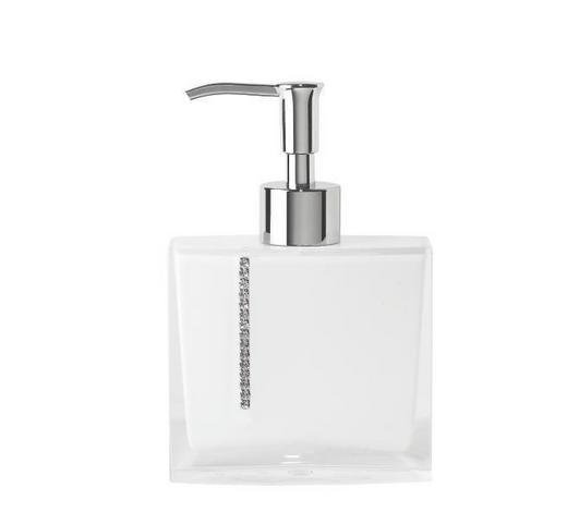 SEIFENSPENDER Kunststoff  - Weiß, Basics, Kunststoff (10,5/16/3,5cm) - Sadena