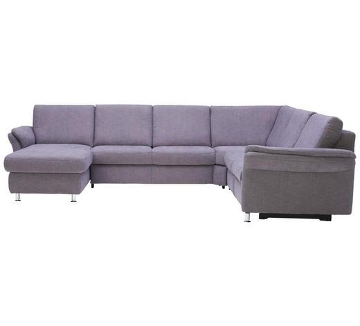 WOHNLANDSCHAFT in Textil Grau - Alufarben/Grau, KONVENTIONELL, Textil/Metall (173/331/262cm) - Beldomo System