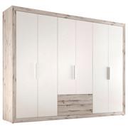 SKŘÍŇ ŠATNÍ, barvy dubu, bílá - bílá/barvy dubu, Konvenční, dřevěný materiál/umělá hmota (289/225/59cm) - Boxxx