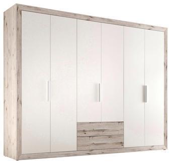 SKŘÍŇ ŠATNÍ - bílá/barvy dubu, Konvenční, dřevěný materiál/umělá hmota (289/225/59cm) - BOXXX