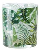 SVÍCEN NA ČAJOVOU SVÍČKU - bílá/zelená, Lifestyle, sklo (7/8cm) - Ambia Home