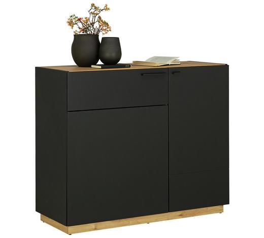 KOMMODE 100/84/41,5 cm - Eichefarben/Schwarz, Design, Holzwerkstoff/Kunststoff (100/84/41,5cm)