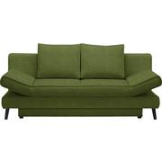 SCHLAFSOFA - Schwarz/Grün, Design, Textil/Metall (200/85/90cm) - Xora