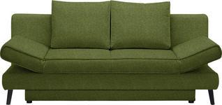 SCHLAFSOFA in Textil Grün - Schwarz/Grün, Design, Textil/Metall (200/85/90cm) - Xora