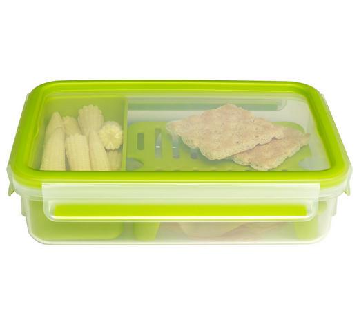 BROTZEITBOX  1,2 L - Transparent/Grün, Design, Kunststoff (1,2l) - Emsa