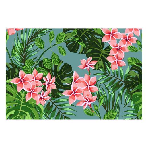 LÄUFER  In-/ Outdoor 90/60 cm  Grün, Pink, Rosa - Pink/Rosa, Kunststoff (90/60cm)