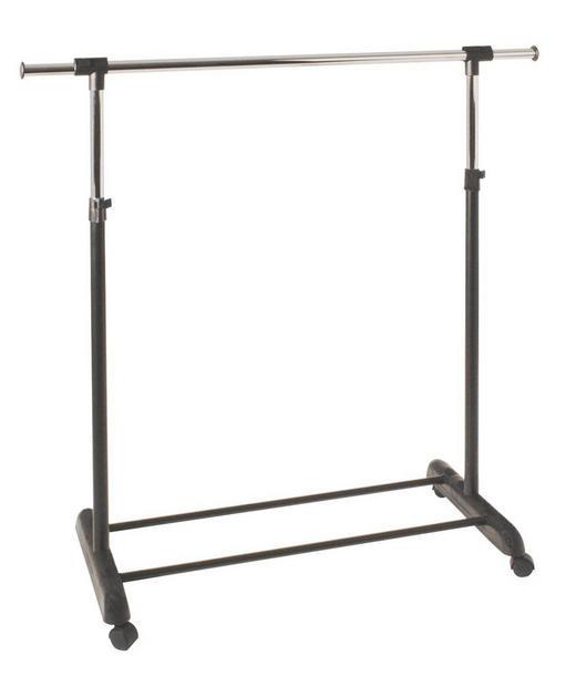 KLEIDERWAGEN Chromfarben, Schwarz - Chromfarben/Schwarz, Design, Kunststoff/Metall (95-145/95-170/44cm) - Carryhome