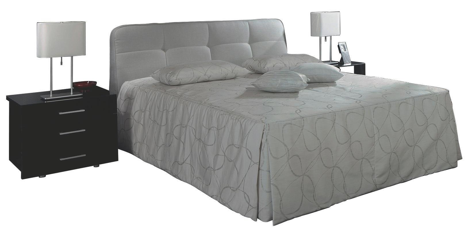 POLSTERBETT 200/200 cm - Grau, Basics, Textil (200/200cm) - RUF