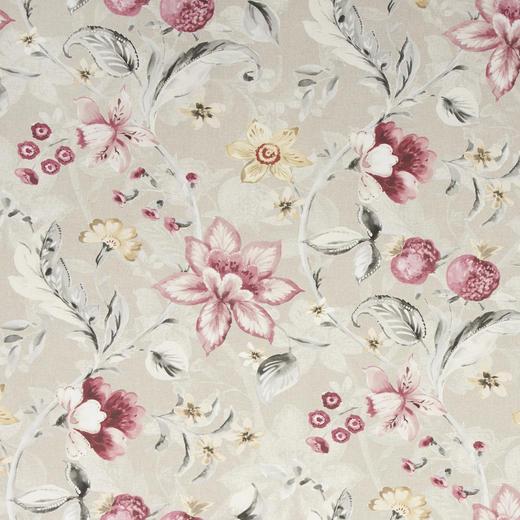 DEKOSTOFF per lfm blickdicht - Rosa/Grau, LIFESTYLE, Textil (140  cm) - Landscape