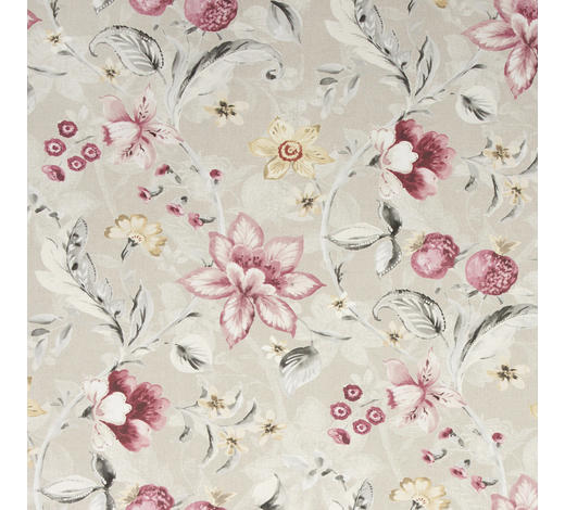 DEKOSTOFF per lfm blickdicht  - Rosa/Grau, LIFESTYLE, Textil (140cm) - Landscape