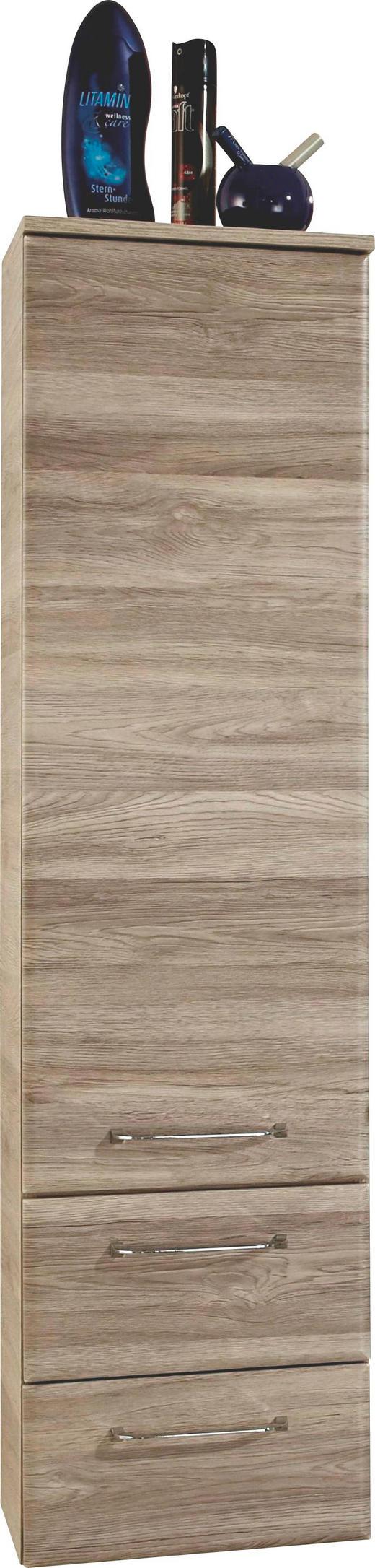 MIDISCHRANK Eichefarben - Chromfarben/Eichefarben, Design, Holzwerkstoff/Metall (35/136/33cm) - Xora