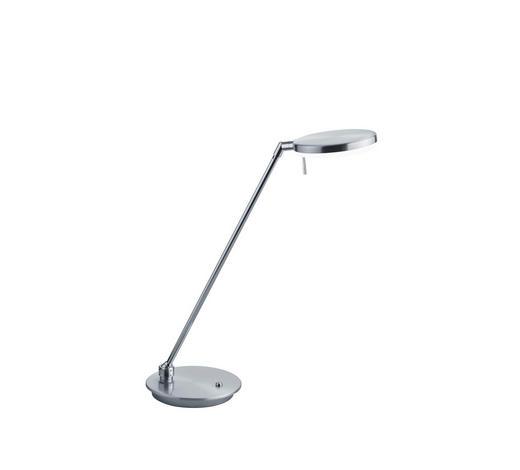 LED-TISCHLEUCHTE - Weiß/Nickelfarben, KONVENTIONELL, Kunststoff/Metall (49cm)