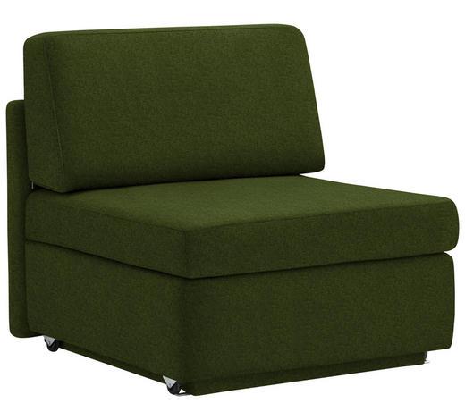 SCHLAFSESSEL in Textil Dunkelgrün - Dunkelgrün, KONVENTIONELL, Textil (91/88/94cm) - Venda