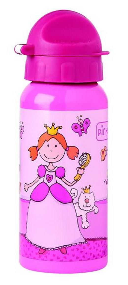 Trinkflasche - Rosa, Basics, Kunststoff/Metall (18/6,5/6,5cm) - Sigikid