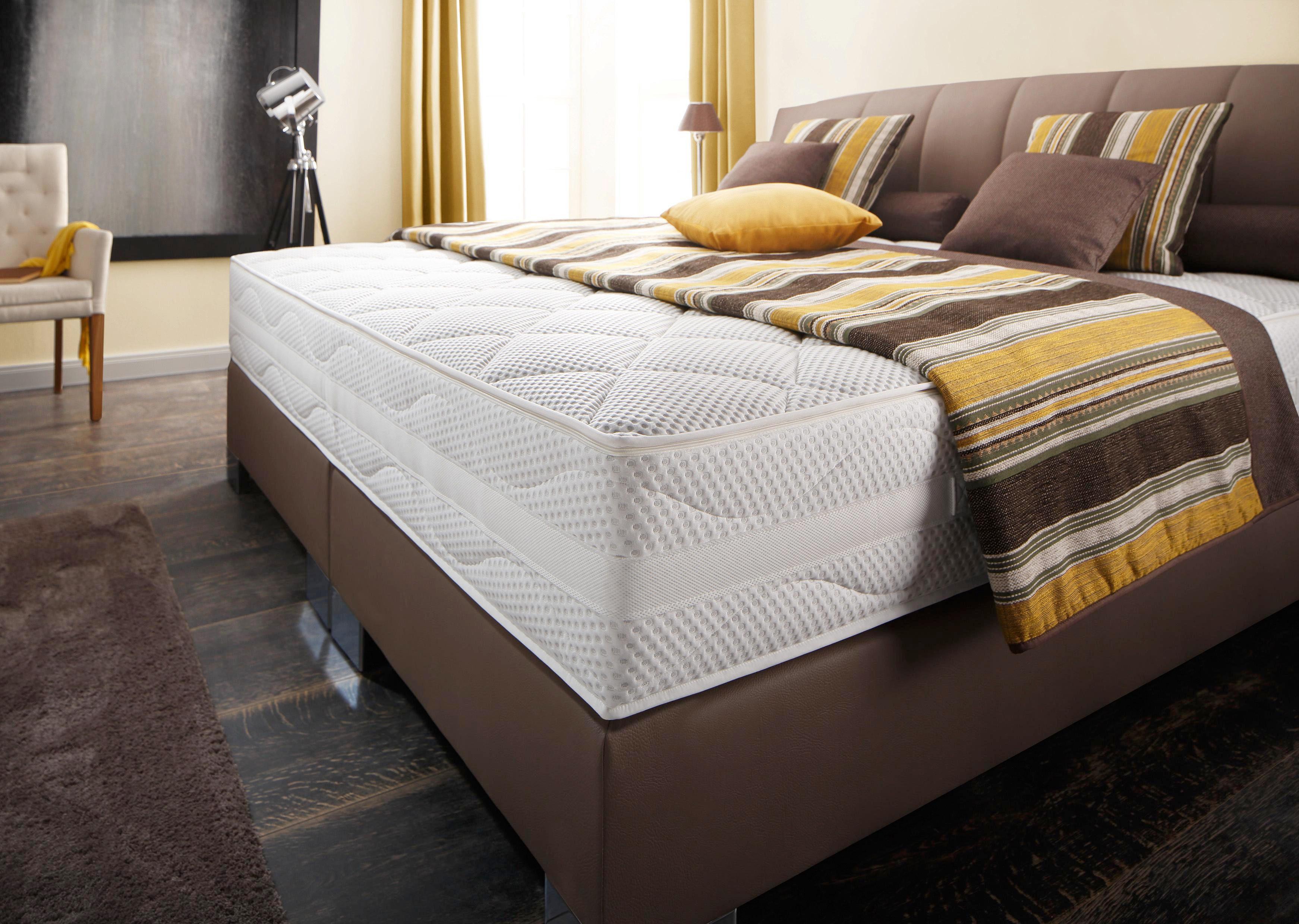 BOXSPRING KREVET - Boje hroma/Boja blata, Dizajnerski, Tekstil (180/200cm) - Bentley