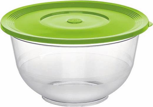 SALATSCHÜSSEL Kunststoff - Transparent/Grün, Basics, Kunststoff (2,0l) - Emsa