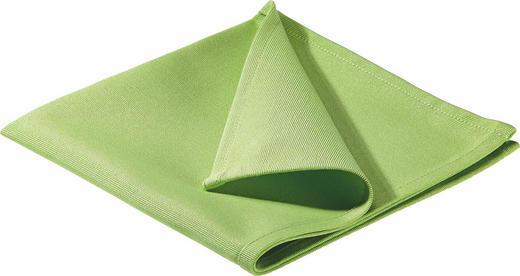 SERVIETTE  Textil  Hellgrün  40/40 cm - Hellgrün, Basics, Textil (40/40cm)
