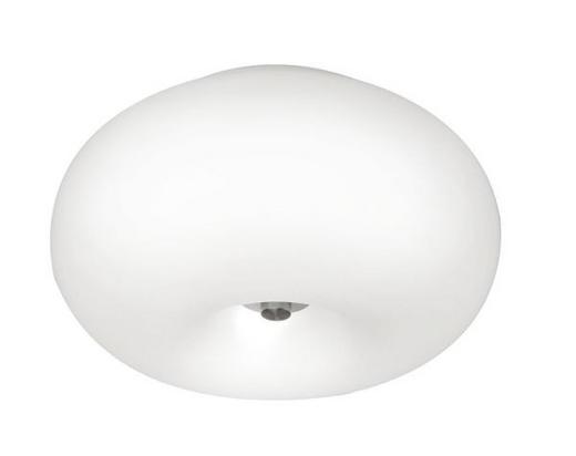 DECKENLEUCHTE - Nickelfarben, KONVENTIONELL, Glas/Metall (28/16cm)