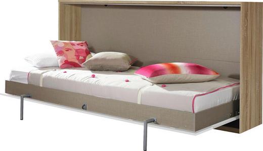 KLAPPBETT 90/200 cm - Eichefarben/Weiß, Design (90/200cm) - Carryhome