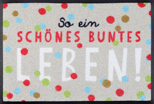 FUßMATTE 40/60 cm Schriftzug Multicolor - Multicolor, Basics, Kunststoff/Textil (40/60cm) - Esposa