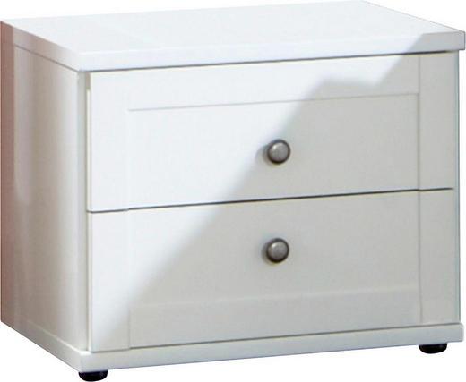 NACHTKÄSTCHEN Weiß - Zinkfarben/Weiß, LIFESTYLE, Kunststoff/Metall (46/38/40cm) - Carryhome