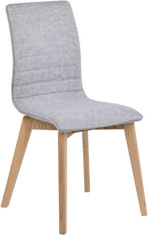 STOL - ljusgrå/ekfärgad, Design, trä/textil (49/89/50cm) - Rowico
