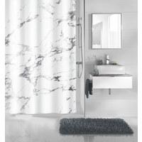 DUSCHVORHANG - Anthrazit, Design, Textil (180/200cm) - Kleine Wolke