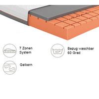 GELSCHAUMMATRATZE Primus 290 100/200 cm 24 cm - Dunkelgrau/Weiß, Basics, Textil (100/200cm) - Schlaraffia