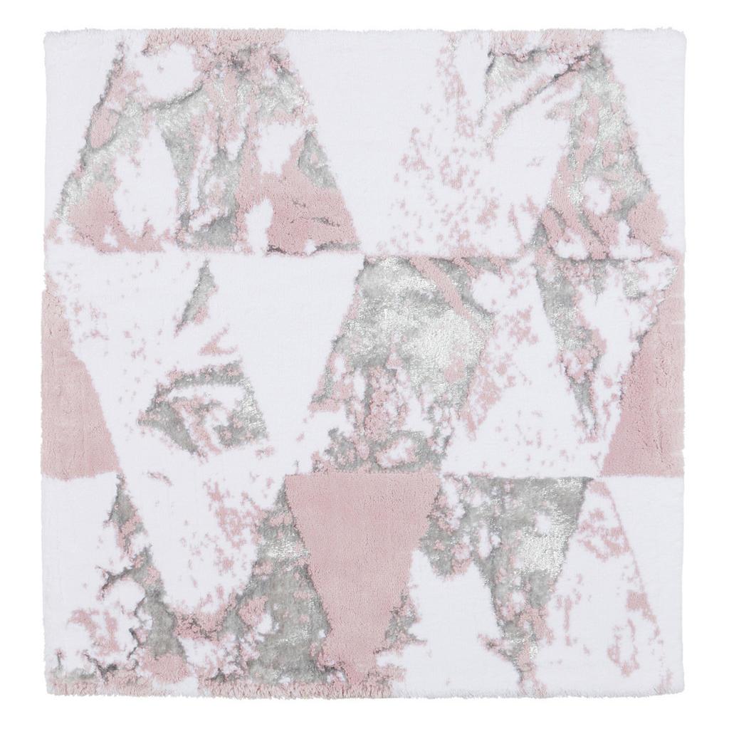 Image of Ambiente Badematte 60/60 cm weiss, flieder , Lisa , Textil , Abstraktes , 60 cm , Webstoff , rutschhemmend , 006134002401