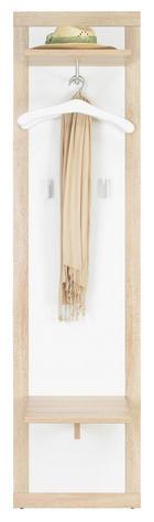 VJEŠALICA ZIDNA - boje srebra/hrast Sonoma, Design, drvni materijal/metal (50/199/36cm) - Boxxx