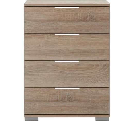 NACHTKÄSTCHEN in Eichefarben  - Chromfarben/Eichefarben, Design, Holzwerkstoff/Kunststoff (52/74/38cm) - Carryhome