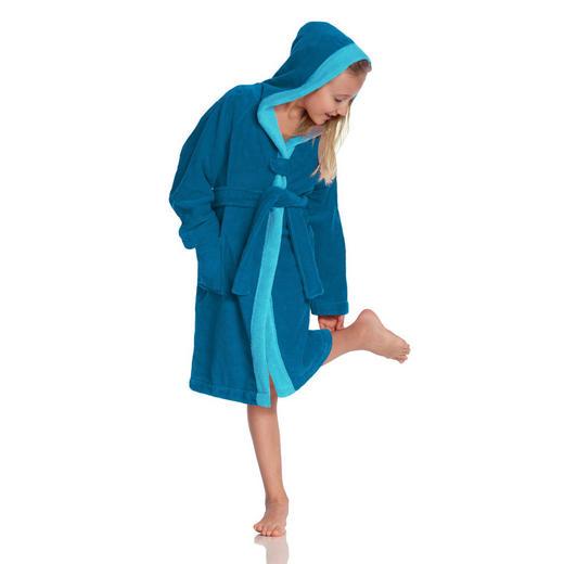 KINDERBADEMANTEL 128// - Blau, KONVENTIONELL, Textil (128//null) - Vossen