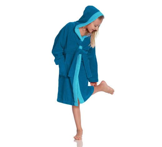 KINDERBADEMANTEL - Blau, KONVENTIONELL, Textil (128null) - Vossen