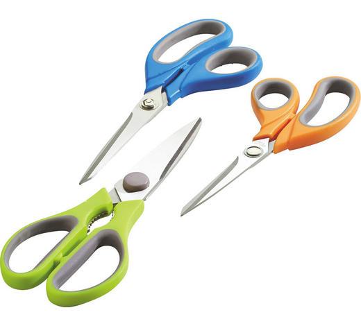 SADA NŮŽEK - oranžová/modrá, Basics, kov/umělá hmota (11cm)