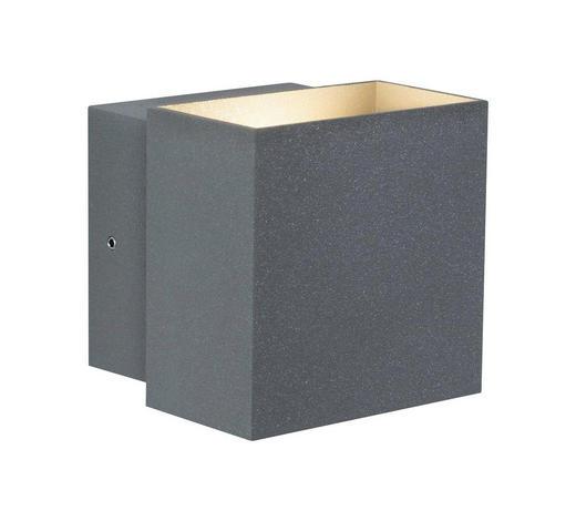 LED-WANDLEUCHTE - Grau, Basics, Metall (10/9,3/10cm)