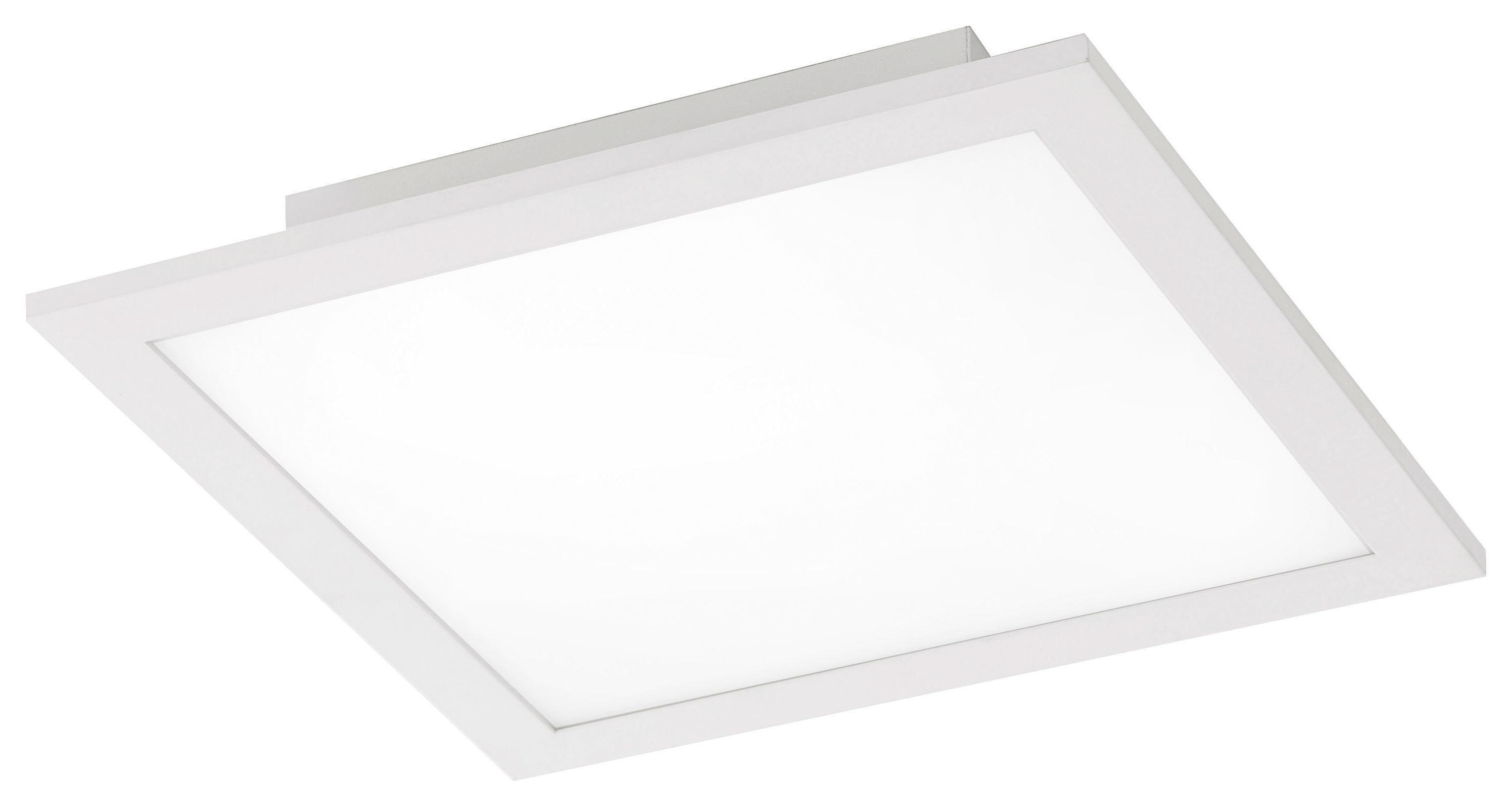 LED STROPNÍ SVÍTIDLO - bílá, Design, kov (30/30/5,6cm) - NOVEL