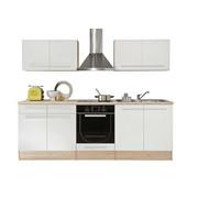 KÜCHENBLOCK - Weiß/Sonoma Eiche, Design, Holzwerkstoff (240/204/60cm) - XORA