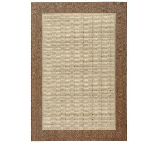 FLACHWEBETEPPICH  120/170 cm  Braun, Naturfarben   - Braun/Naturfarben, Basics, Textil (120/170cm) - Boxxx