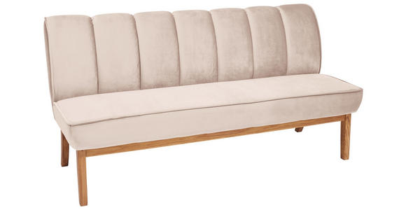SITZBANK 183/94/82 cm  in Taupe, Eichefarben  - Taupe/Eichefarben, Design, Holz/Textil (183/94/82cm) - Carryhome