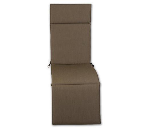 RELAXSESSELAUFLAGE Uni  - Hellbraun, Design, Textil (50/164/4cm)